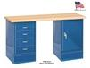 WORK BENCH WITH DRAWER & DOOR CABINETS